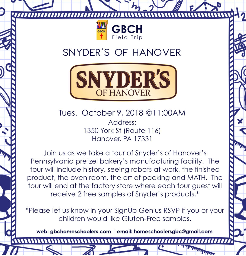 Snyder's of Hanover Field Trip | Greater Baltimore Christian